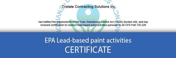 Lead-based paint CERTIFICATE